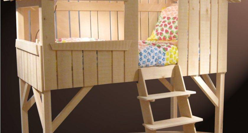Single Treehouse Bed Lime Wood