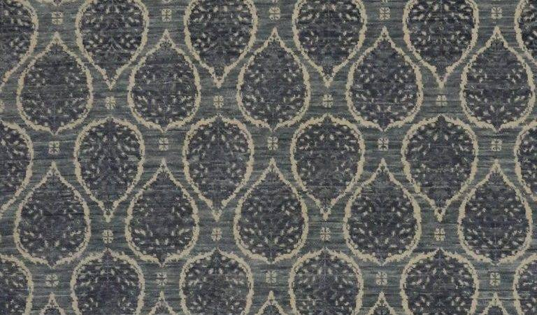Slate Blue Gray Transitional Rug Modern Style