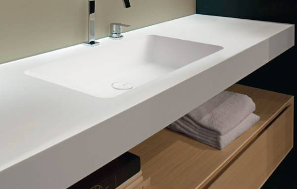 Sleek Bathroom Sensibility Arco Countertop Antonio Lupi