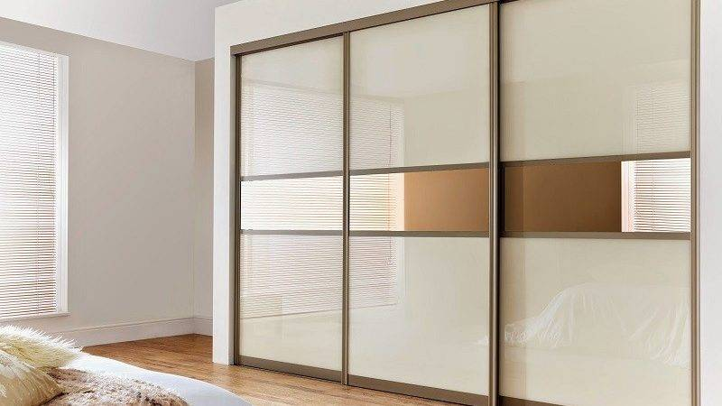 Sliding Three Doors Wardrobe Design Door