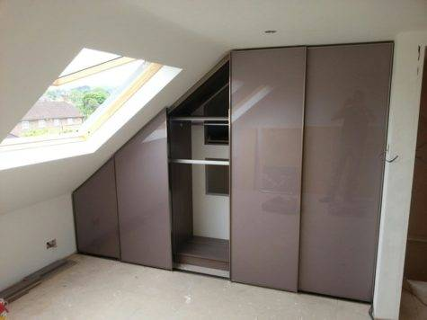 Sloping Ceiling Sliding Door Wardrobe Hidden Spaces