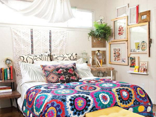 Small Bohemian Bedroom Design