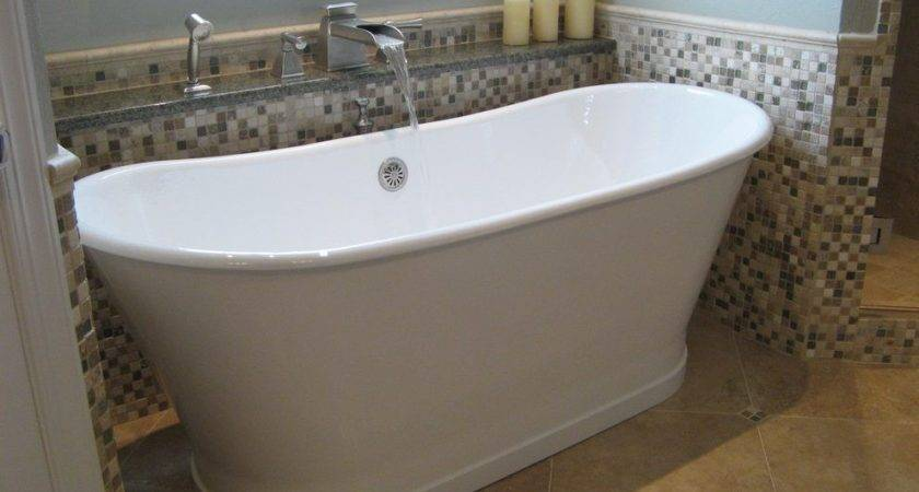 Small Freestanding Tub Bathroom Contemporary Cool