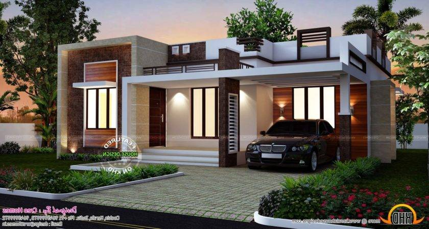 Small Modern Flat Roof House Plans