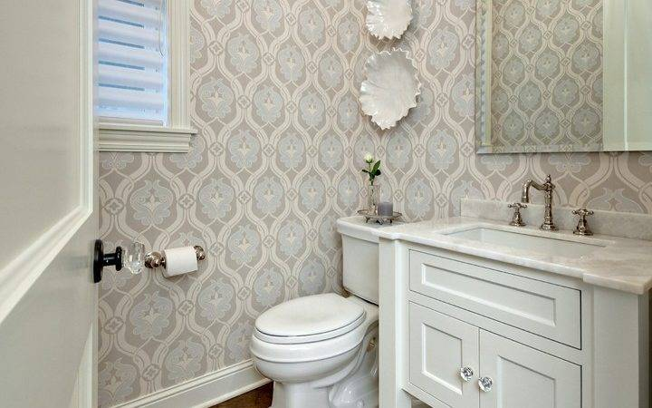 Small Powder Room Ideas Traditional Crown