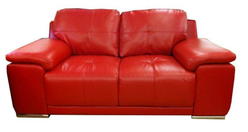 Small Red Leather Sofa Bed Decorate