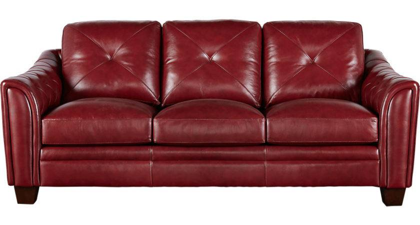 Small Red Leather Sofa Shape Sleeper