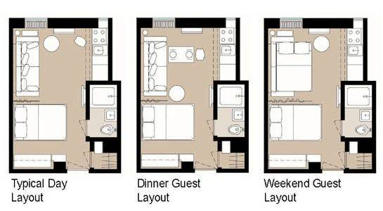 Smart Studio Apartment Layouts Therapy