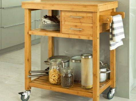 Sobuy Kitchen Trolley Shelves Drawers