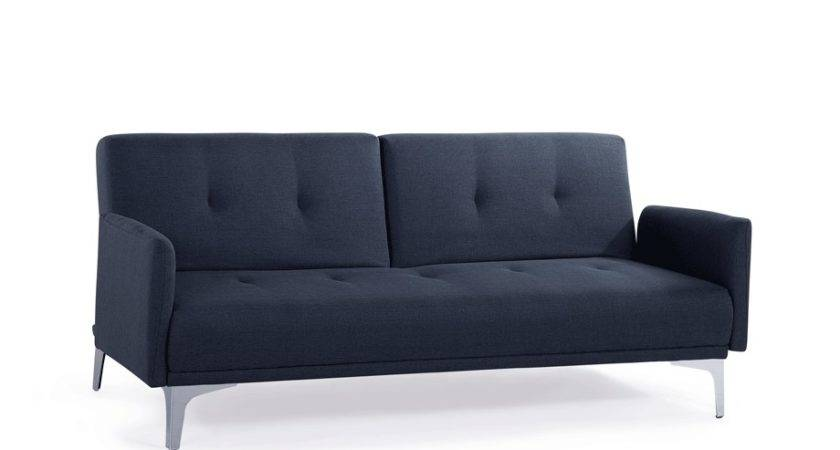 Sofa Bed Upholstered Couch Grey Blue Seater