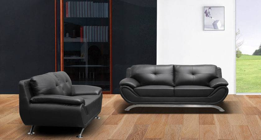 Sofa Couch Loveseat Chair Set Living Room Black