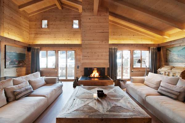 Soft Textures Clean Lines Chalet Gstaad Swiss