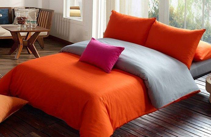 Solid Orange Comforter Reviews Shopping