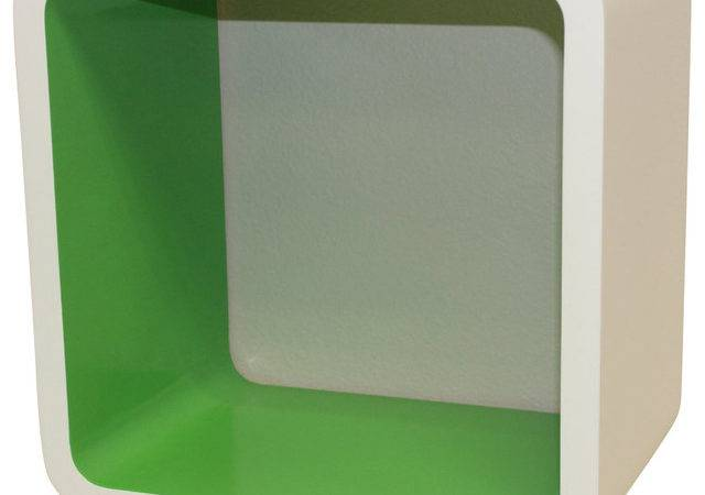 Solid Surface Rounded Corner Wall Cube Shelf Most