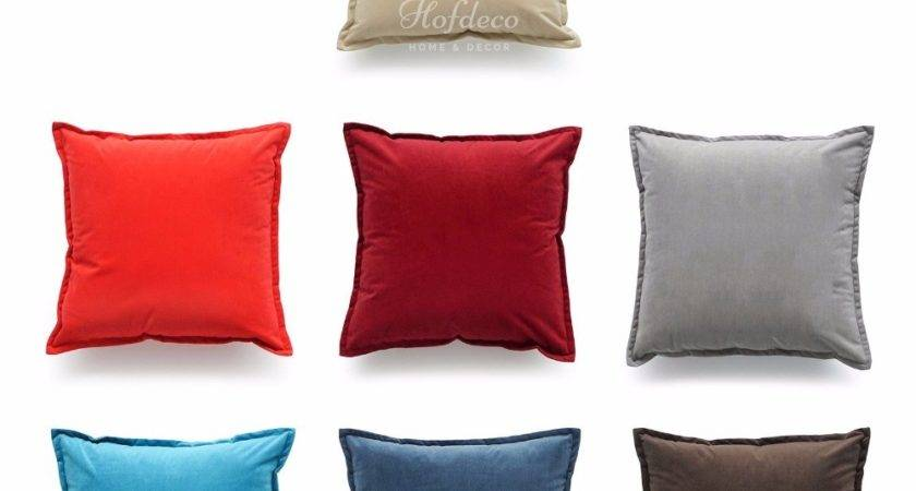 Solid Velvet Throw Pillow Case Sofa Fashion Couch Chair