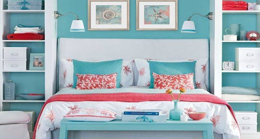 Soothing Bedroom Ideas Navy Coral Blue