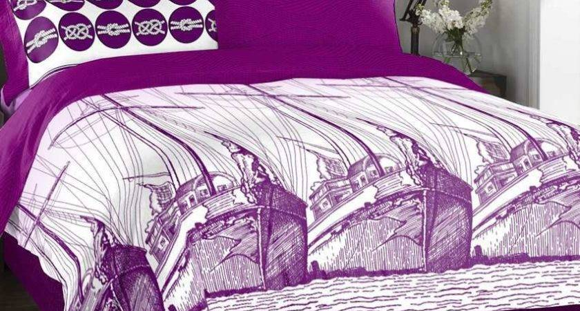 Spaces Purple White Printed Cotton Comforter Buy