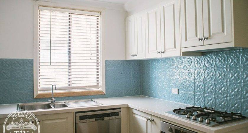 Spades Misty Blue Kitchen Splashback