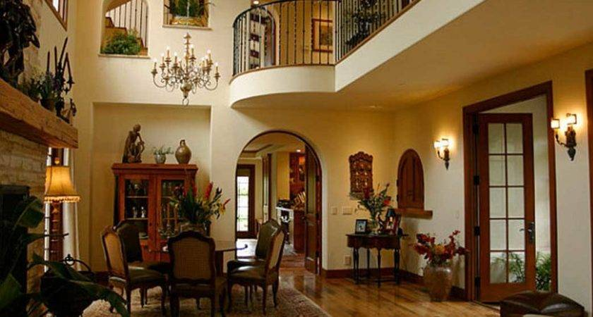 Spanish Style Homes Interior Cream Wall Paint Color