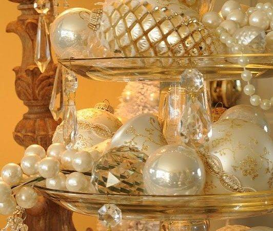 Sparkling Gold Silver Christmas Decorations