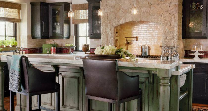 Spectacular Rustic Kitchen Island Decorating Ideas