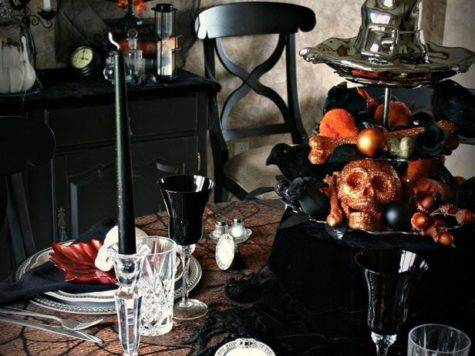 Spooky Halloween Table Settings Decorations Ideas