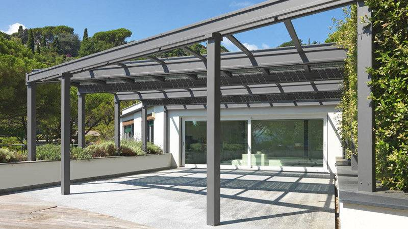 Stainless Steel Pergola Conservatory Photovoltaic