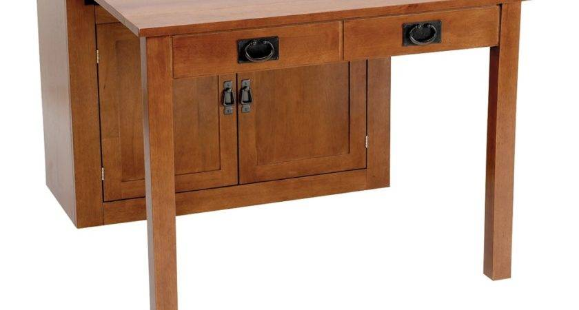 Stakmore Mission Expanding Cabinet Dining Table