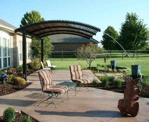 Steel Shade Pergolas Provide Covering Your