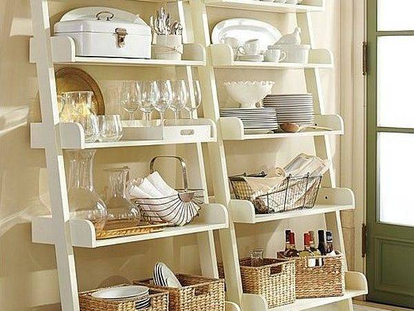 Stepping Style Ladder Shelves Display Ideas