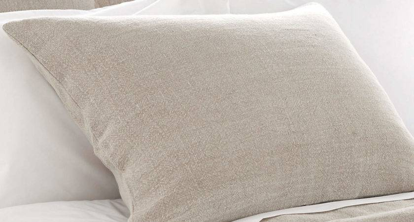 Stone Washed Linen Natural Sham Pine Cone Hill