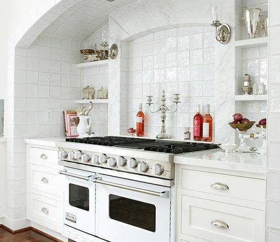Stove Alcove Traditional Kitchen Bhg