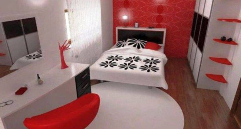Striking Red Black White Bedroom Ideas
