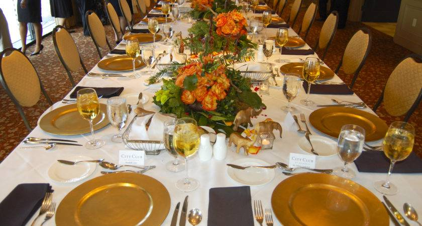 Stunning Design Party Table Setting Ideas Rectangle