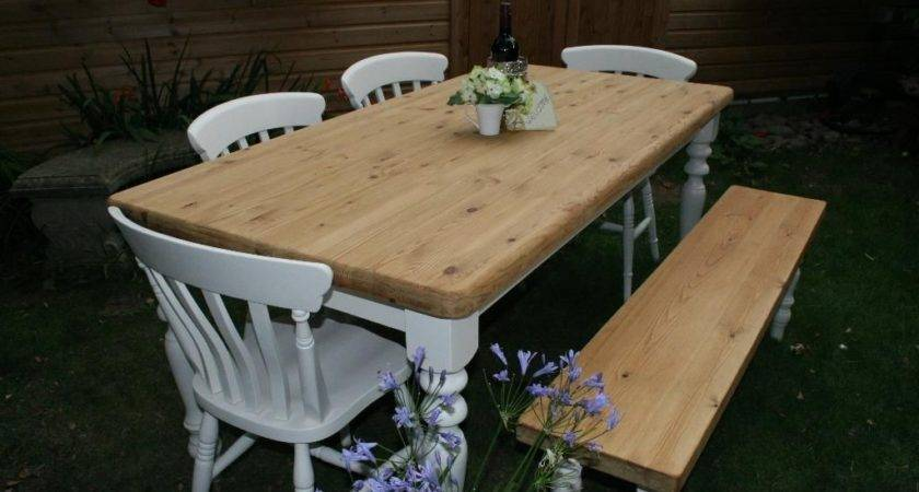 Stunning Shabby Chic Rustic Pine Farmhouse Table
