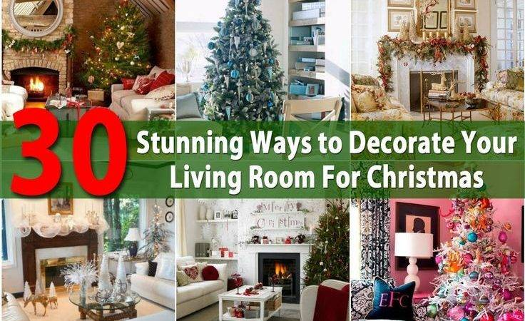 Stunning Ways Decorate Your Living Room Christmas