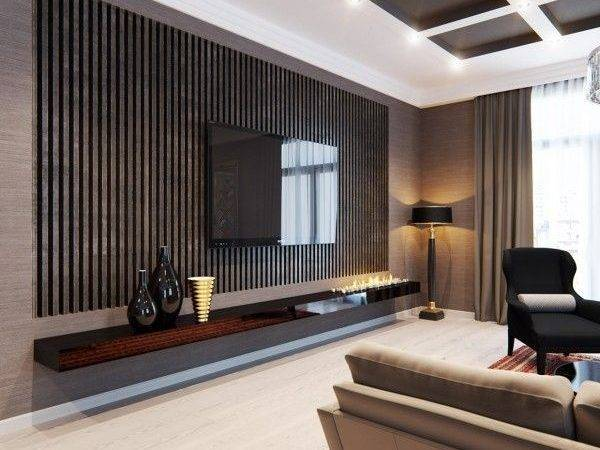 Stylish Apartment Classic Design Features Wall