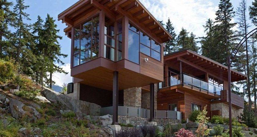 Sweeping Mountain Lake Views Modern Chalet Architecture
