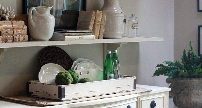 Sweet Savannah Dining Room Shelving Styled
