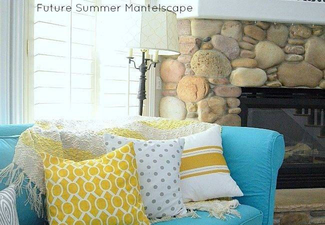 Switching Things Summer Turquoise Slipcover
