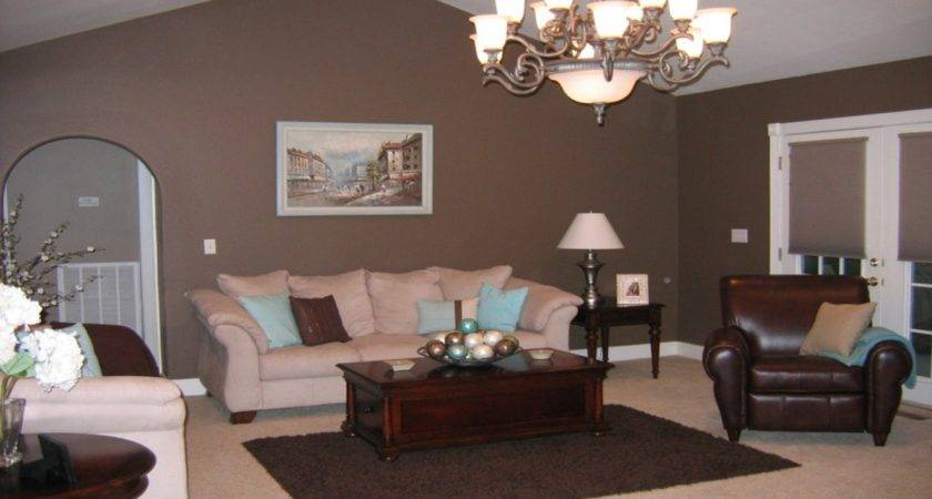 Taupe Brown Living Room