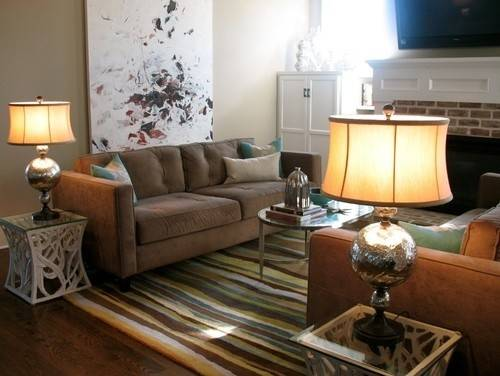 Taupe Couch Green Rug Living Room Ideas Pinterest