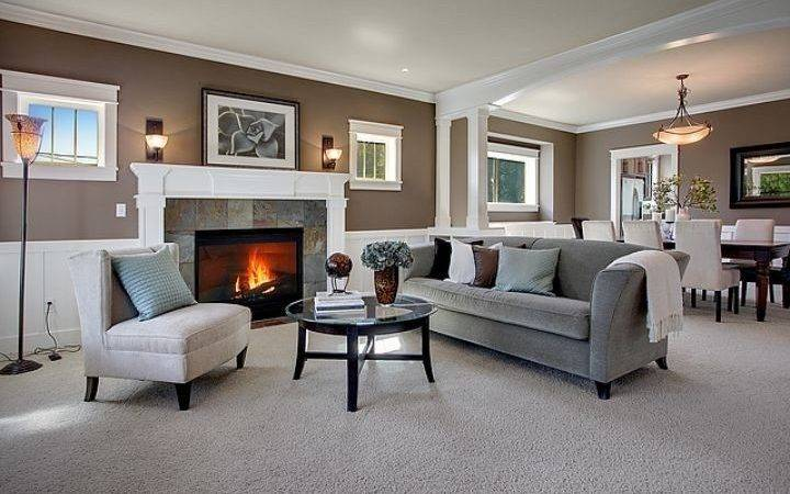 Taupe Grey Living Room Contemporary