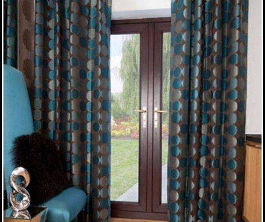 Teal Blue Brown Curtains Home Design