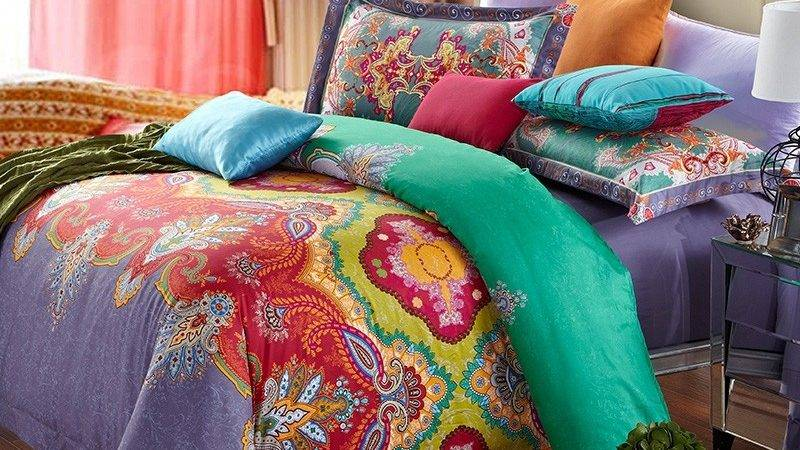 Teal Blue Red Yellow Purple Baroque Style Traditional
