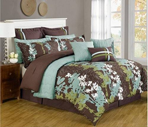 Teal Brown Bedding Amazon