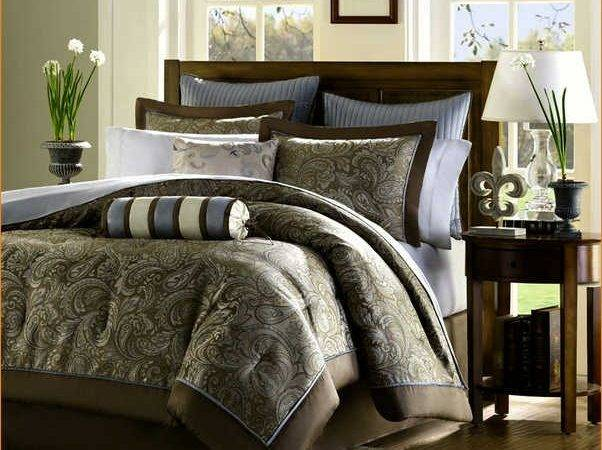 Teal Brown Bedding Comforter Cover Chocolate