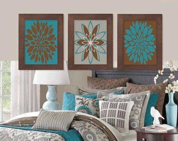 Teal Brown Bedroom Modern Style Home Design Ideas