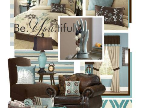 Teal Brown Beige Home Decor Polyvore