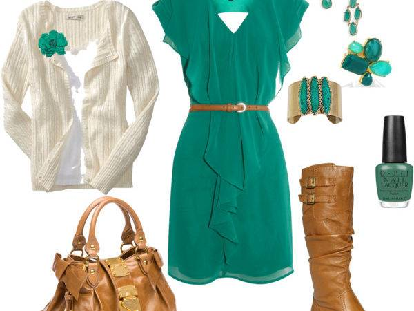 Teal Brown Polyvore